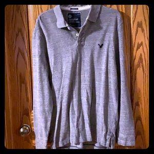 American Eagle Vintage Fit Grey Thermal Large